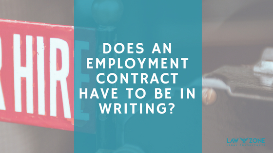 Does an employment contract have to be in writing?