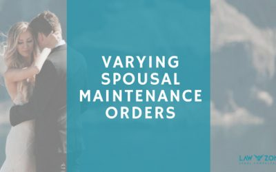 Varying spousal maintenance orders